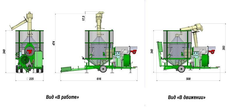 Передвижные сушилки для зерна AS 1500 атма, fratelli Россия